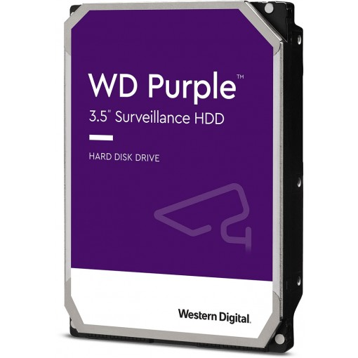 "HDD Western Digital WD100PURZ Purple 10TB-SATA3-3.5"" Surveillance"