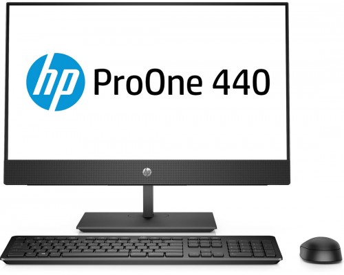 AIO PC Hewlett-Packard ProOne 440 G4-4NU52EA-24''-FHD-i3-8100T-4GB-1TB-UHD630-WiFi-W10-1Y