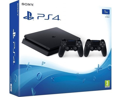Console Playstation 4 Slim 1TB Black 2 x DualShock 4