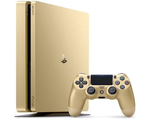 Console Playstation 4 Slim 500GB Gold + 2 Dualshock 4